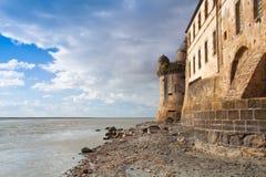 Detalle de Le histórico famoso Mont Saint-Michel Normandy, Francia Imágenes de archivo libres de regalías
