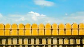 Detalle de los almenajes del fuerte de Kumbhalgarh foto de archivo libre de regalías
