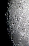 Detalle de los cráteres de luna Imágenes de archivo libres de regalías