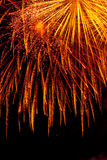 Detalle de los fuegos artificiales Fotografía de archivo libre de regalías