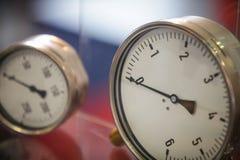 Detalle de los indicadores de presión Imágenes de archivo libres de regalías