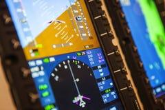 Detalle de los instrumentos del aeroplano Foto de archivo