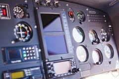 Detalle de los instrumentos del helicóptero Foto de archivo libre de regalías