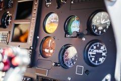 Detalle de los instrumentos del helicóptero Imagen de archivo