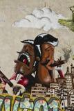 Detalle de los interbrigadas de la pintada stock de ilustración