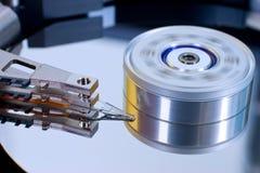 Detalle de los internals del mecanismo impulsor duro del ordenador Imagenes de archivo