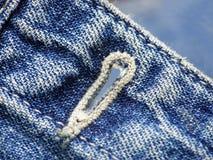 Detalle de los pantalones vaqueros fotografía de archivo libre de regalías