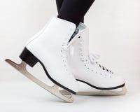 Detalle de los patines de hielo Imagenes de archivo