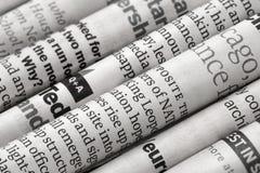 Detalle de los periódicos Foto de archivo libre de regalías