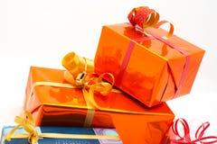 Detalle de los rectángulos de regalo fotos de archivo libres de regalías