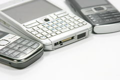 Detalle de los teléfonos móviles Foto de archivo