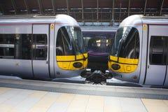 Detalle de los trenes expresos de Heathrow Imagenes de archivo