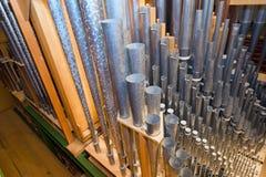 Detalle de los tubos de órgano Fotos de archivo