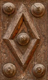 Detalle de madera antiguo de la puerta Imagen de archivo libre de regalías