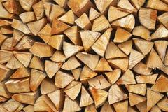 Detalle de madera de la pila Foto de archivo