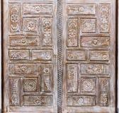 Detalle de madera de la puerta Imagen de archivo