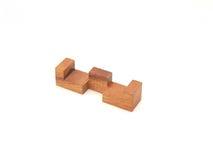 Detalle de madera de un rompecabezas Foto de archivo libre de regalías