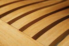 Detalle de madera del asiento de la silla Fotos de archivo libres de regalías