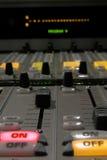 Detalle de mezcla de la consola II Imagen de archivo libre de regalías