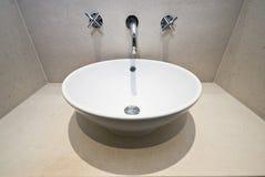 Detalle de mármol del cuarto de baño Foto de archivo libre de regalías