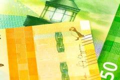 Detalle de nuevos 500 un anverso del billete de banco de la corona noruega 50 fotos de archivo