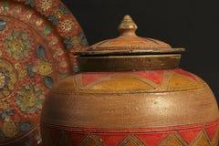 Detalle de objetos decorativos de cerámica Fotos de archivo libres de regalías