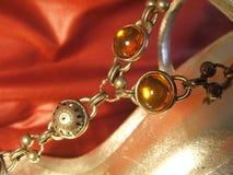 Detalle de oro de la sandalia Fotos de archivo