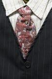 Detalle de Pin Stripe Suit de los hombres del estilo de los años 20 Foto de archivo
