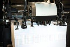 Detalle de rodillos en máquina de impresión en offset Fotografía de archivo libre de regalías