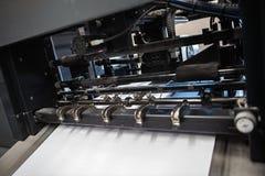 Detalle de rodillos en máquina de impresión en offset Fotos de archivo libres de regalías