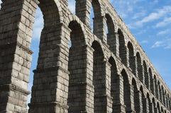 Detalle de Roman Aqueduct de Segovia Imagen de archivo libre de regalías