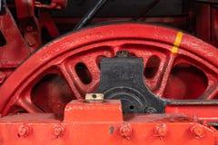 Detalle de ruedas en el motor de vapor fotos de archivo libres de regalías