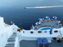 Detalle de Santorini Foto de archivo libre de regalías