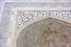 Detalle de Taj Mahal exterior en Agra, Uttar Pradesh, la India Imagen de archivo libre de regalías