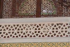 Detalle de talla de mármol del arte del otomano fotos de archivo