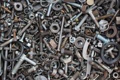 Detalle de tornillos y de tuercas Imagen de archivo libre de regalías