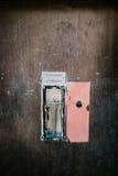 Detalle de un autómata viejo de la cabina de la foto Fotografía de archivo libre de regalías