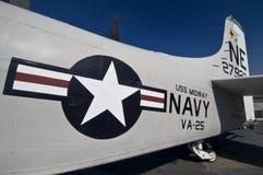 Detalle de un avión de combate Foto de archivo libre de regalías