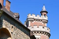 Detalle de un castillo viejo que fue renovado Imagen de archivo libre de regalías