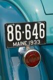 Detalle de un coche clásico Imágenes de archivo libres de regalías