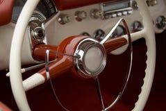 Detalle de un coche clásico imagen de archivo