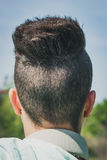 Detalle de un corte de pelo femenino Fotografía de archivo