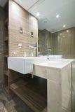 Detalle de un cuarto de baño de mármol Foto de archivo