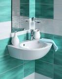 Detalle de un cuarto de baño moderno Foto de archivo