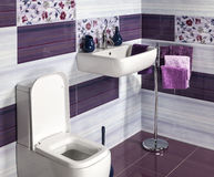Detalle de un cuarto de baño moderno Fotografía de archivo libre de regalías