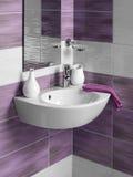 Detalle de un cuarto de baño moderno Foto de archivo libre de regalías