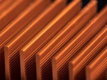 Detalle de un elemento refrigerante de una placa de circuito Fotografía de archivo libre de regalías