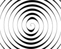 Detalle de un espiral negro en blanco ilustración del vector