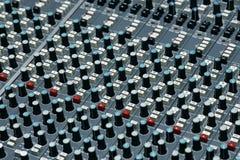 Detalle de un estudio de grabación Imagenes de archivo