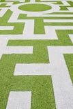 Detalle de un laberinto de la hierba Imágenes de archivo libres de regalías